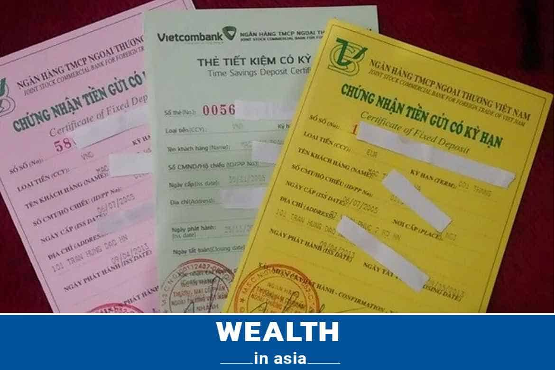 Các mẫu sổ tiết kiệm ngân hàng Vietcombank