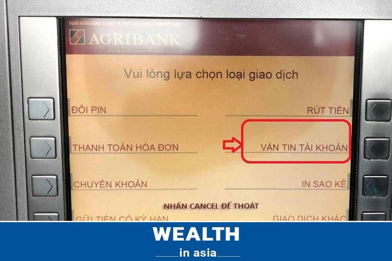 Lỗi do thẻ ATM