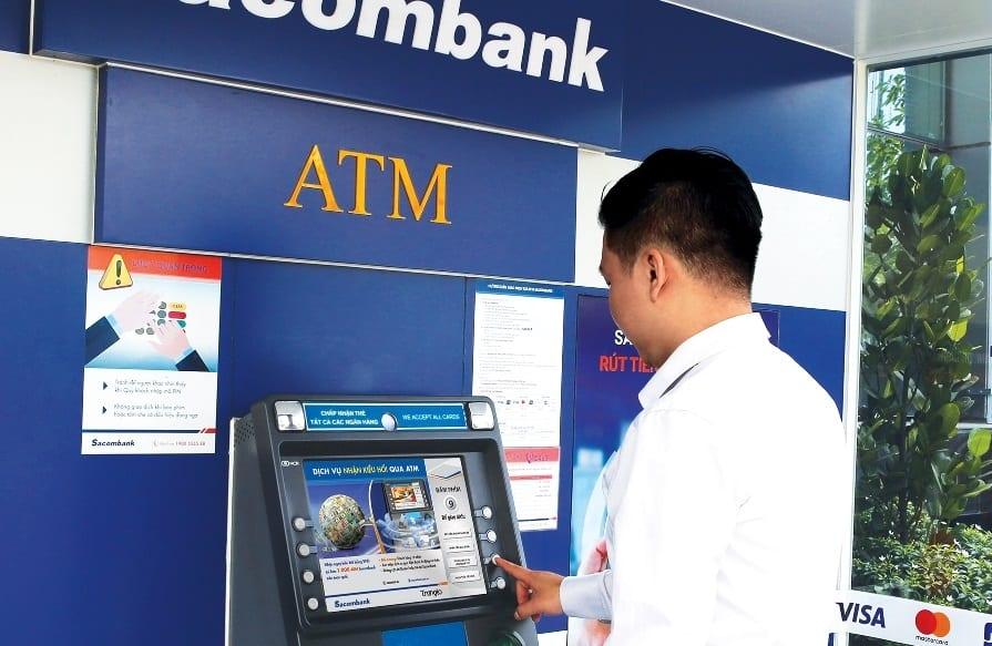 Tra cứu tài khoản Sacombank tại ATM